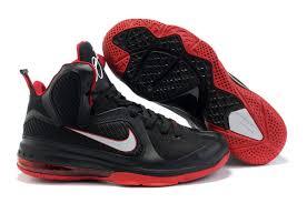 lebron 9 shoes. nike lebron 9 black white sport red dkjs2500,nike free mens,free nike, shoes