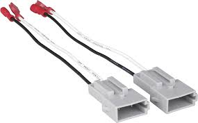 car speaker harnesses best buy metra speaker wire harness adapter for most 1989 or later ford vehicles white