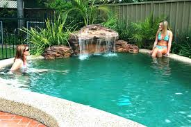 inground pools with waterfalls. Inground Pool Waterfalls Complete Swimming Waterfall Kit Free Shipping Rock Pools With A