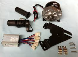 my1016z3 350w 24v gear brush motor with motor controller and twist throttle diy electric bicycle