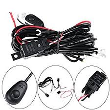 led light pods wiring harness automotive parts online com led wiring harness powlab 2 metrer 12v 40a led pod wiring harness led light