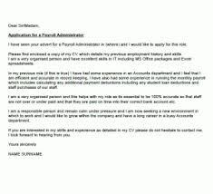 Payroll Administrator Cover Letter Payroll Administrator Cover Letter Cover Letters And Cv