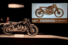 1951 vincent black lightning motorcycle sells for 929 000 cycle