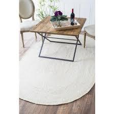 2 3 x 4 oval hand woven rigo jute rug white rug