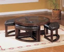 fabulous round coffee table with seats with coffee table with ottomans underneath decofurnish