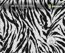 Tiger Pattern Fascinating Tiger Stripes Black Large Zebra Hydrographics Pattern Dipping Dip