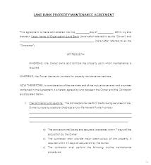 Free Service Contract Template Monthly Service Contract Template Maintenance Agreement Form