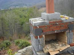building an outdoor fireplace with chimney