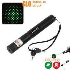 Đèn Pin Laser 303 Ánh Sáng Xanh Lá Chiếu Xa Cực Mạnh, Kèm Phụ Kiện Chiếu  Sao Vạn Hoa Dùng Pin Sạc