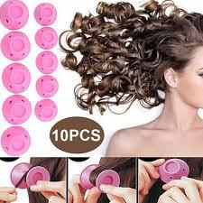 <b>10pcs Soft</b> Silicone Hair Curlers Painless DIY Magic Spiral Curls ...