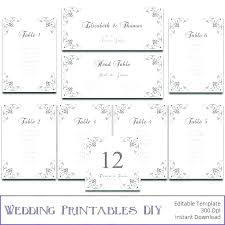 Round Table Seating Chart Template Tables Wedding Program