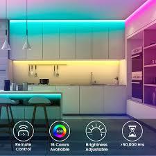Bộ đèn led dây dán 5050 đổi nhiều màu RGB bằng điều khiển phủ silicon chống  nước, có sẵn keo dán trang trí bàn làm việc, tường thạch cao, ô tô -
