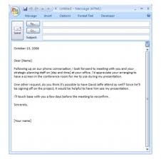 Business Email Template Business Email Samples