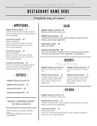 Word Restaurant Menu Templates Menu Template Word Bravebtr