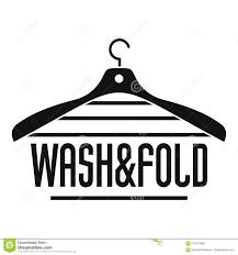 Hanger Design Logo Laundry Wash And Fold Hanger Logo Simple Style Stock Vector