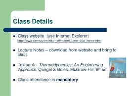 PPT - ME 40 Thermodynamics PowerPoint Presentation - ID:6452433