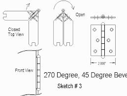 270 degree door hinge. beveled edge 270 degree door hinge