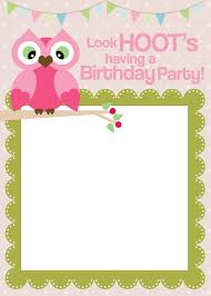 get gorgeous looking printable birthday invitations owl birthday party printable invitation card