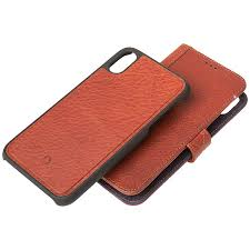 decoded 2 in 1 leather wallet case for iphone xr brown dcd8ipo61dw1cbn london s