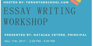 hand on interactive essay writing workshop by toronto eschool hand on interactive essay writing workshop by toronto eschool tickets