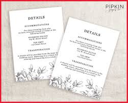 wedding accommodations template wedding information card template printable diy french country