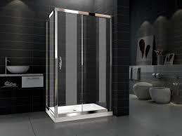 Einfaches Sauberes Glas Badezimmer Dusche Raum Gehäuse Der