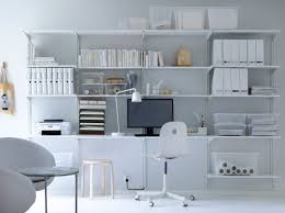 lovely long desks home office 5. algot white wallmounted storage solution with shelves and wall uprights lovely long desks home office 5