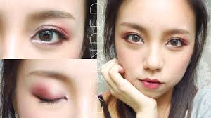 burgundy smokey eye tutorial for asian eyes