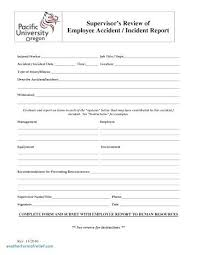 Employee Incident Report Template Delectable Template Free Hr Incident Report Form Generic Employee Accident