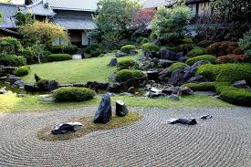 because such gardens originally come from the buddhist temples in kyoto the zen gardens were with relatively small dimensions and surrounded by buildings