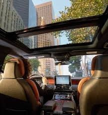 2018 lincoln iced mocha.  lincoln a city scene is shown through the available panoramic vista roof from  inside a lincoln navigator to 2018 lincoln iced mocha