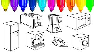 Small Picture Learn colors for kids with kitchen appliances coloring pages Fun