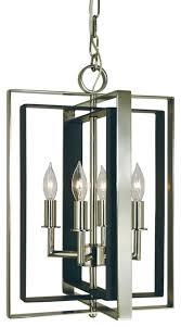framburg symmetry 4 light mini chandelier antique brass matte black
