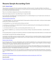 Cool Resume Cover Letter For Payroll Clerk For Custom Clerk