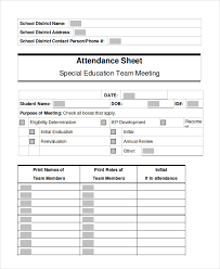 Sample Attendance Sheets Sample Attendance Sheet 15 Examples In Pdf Word