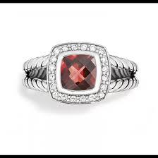 david yurman petite albion ring with pyrope garnet and diamonds