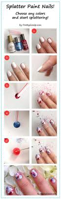 splatter paint nail art design