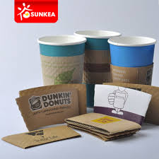 China Disposable Paper Coffee Cup Wraps - China Cup Jacket ...