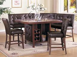 corner dining furniture. bravo 6 piece dining room set counter height table corner seating u0026 2 chairs furniture