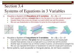 section 3 4 systems of equations in 3 variables n