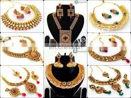 indian whole gold plated pendant set south indian pendant set indian meenakari jewellery