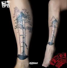 фото татуировки дерево татуировки на голени татуировки на икре