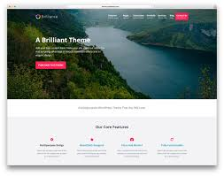 awesome responsive wordpress themes colorlib brilliance minimal landing page website template