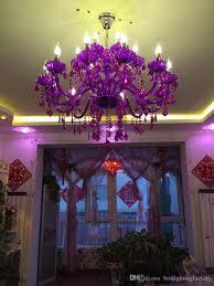 Großhandel Lila Kristall Kronleuchter Glanz Kristall Kronleuchter Lüster Wohnzimmer Esszimmer Kronleuchter Ohne Lampenschirm Schlafzimmer Boutique