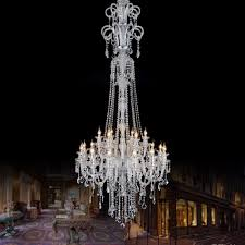 h2 1m large led candle holder chandelier crystal light for villa hotel church extra long