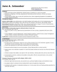San Administration Sample Resume Adorable Systems Administrator Resume Sample Entry Level Creative Resume
