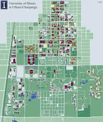 University Of Illinois At Urbana Champaign Campus Map 1401 West
