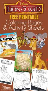 Small Picture Disneys The Lion Guard Coloring Pages Activity Sheets
