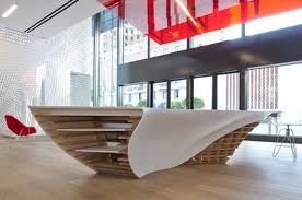 Organic Office Organic Slo_gen Table Made With Hi Macs Amazes Visitors At Gensler