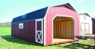 N Highside Storage Shed With Garage Door
